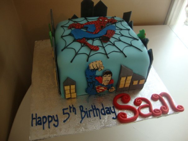 Spiderman, Superman, Batman(side),